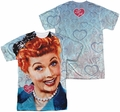 Lucy Lucille Ball mens full sublimation t-shirt Smile
