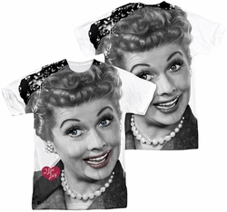 Lucy Lucille Ball mens full sublimation t-shirt Timeless