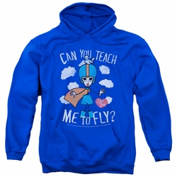 Lucy Lucille Ball pull-over hoodie Fly adult royal blue