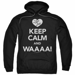 Lucy Lucille Ball pull-over hoodie Keep Calm Waaa adult black