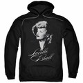 Lucy Lucille Ball pull-over hoodie Pretty Gaze adult black