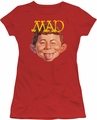 Mad juniors t-shirt Absolutely Mad red