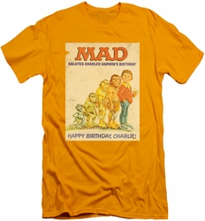 Mad Magazine slim-fit t-shirt Charles mens gold
