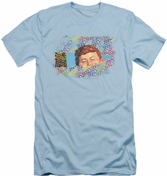 Mad Magazine slim-fit t-shirt Peeking mens light blue