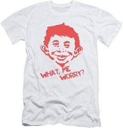 Mad Magazine slim-fit t-shirt What Me Worry mens white