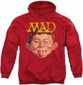 Mad pull-over hoodie Absolutely Mad adult red