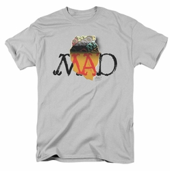 Mad t-shirt Torn Logo mens silver