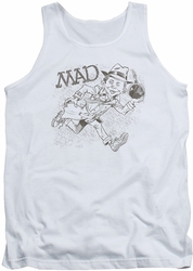 Mad tank top Sketch mens white