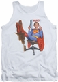 Mad tank top Super Read mens white