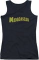 Madagascar juniors tank top Logo black