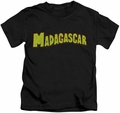 Madagascar kids t-shirt Logo black