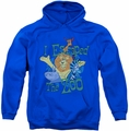 Madagascar pull-over hoodie Escaped adult royal blue