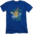 Madagascar slim-fit t-shirt Escaped mens royal blue