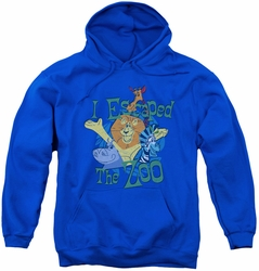 Madagascar youth teen hoodie Escaped royal blue