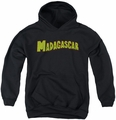 Madagascar youth teen hoodie Logo black