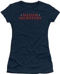 Madam Secretary juniors t-shirt Logo navy