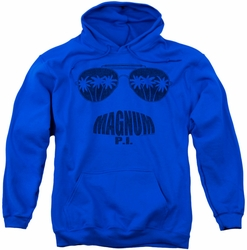 Magnum PI pull-over hoodie Face It adult royal blue