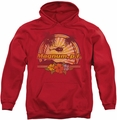 Magnum PI pull-over hoodie Hawaiian Sunset adult red
