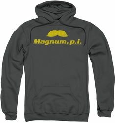 Magnum PI pull-over hoodie The Stache adult charcoal