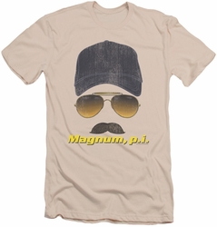 Magnum Pi slim-fit t-shirt Geared Up mens cream