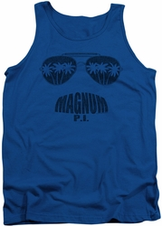 Magnum Pi tank top Face It mens royal
