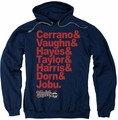 Major League pull-over hoodie Team Roster adult navy