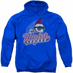 Major League pull-over hoodie Title adult royal blue