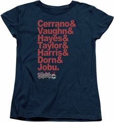 Major League womens t-shirt Team Roster navy