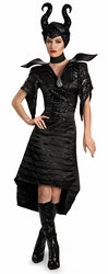 Maleficent Christening Black Gown Glam Adult Deluxe costume