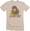 Mallrats slim-fit t-shirt Pretzels mens cream