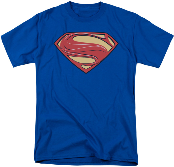 Man of steel t shirt new solid shield mens royal for Man of steel t shirt online