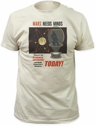 Mars Attacks mars needs minds fitted jersey t-shirt