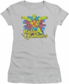 Martian Manhunter juniors t-shirt Stars silver
