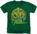 Martian Manhunter kids t-shirt DC Comics kelly green