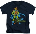 Martian Manhunter kids t-shirt Pose navy