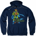 Martian Manhunter pull-over hoodie DC Comics adult navy