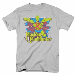 Martian Manhunter t-shirt Stars mens silver