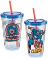 Marvel Captain America 18 oz. Acrylic Travel Cup
