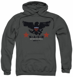 Mash pull-over hoodie Eagle adult charcoal
