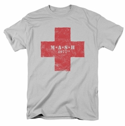 MASH t-shirt Red Cross mens silver
