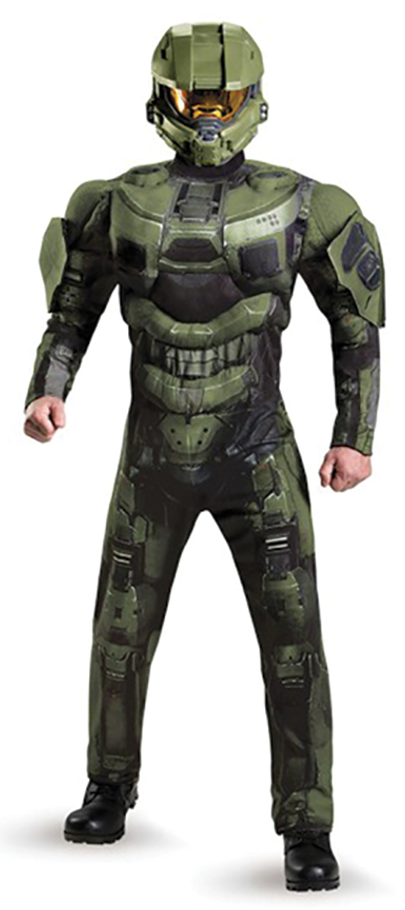 master chief adult deluxe muscle costume halo urban collector. Black Bedroom Furniture Sets. Home Design Ideas