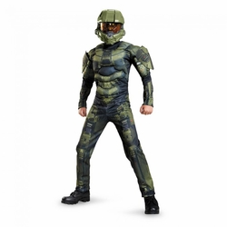 Master Chief Boys classic muscle costume Halo