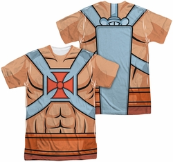 Masters Of The Universe mens full sublimation t-shirt He Man Costumes