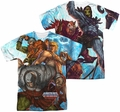 Masters Of The Universe mens full sublimation t-shirt Heroes And Villains