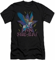 Masters Of The Universe slim-fit t-shirt I Am She Ra mens black