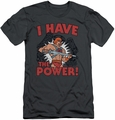 Masters Of The Universe slim-fit t-shirt I Have The Power mens charcoal