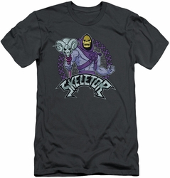 Masters Of The Universe slim-fit t-shirt Skeletor mens charcoal