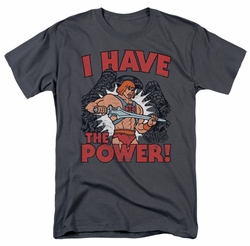 Masters Of The Universe t-shirt I Have The Power mens charcoal