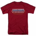 Masters Of The Universe t-shirt Logo mens cardinal