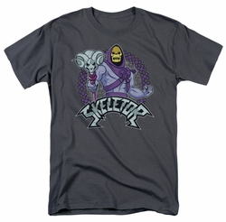 Masters Of The Universe t-shirt Skeletor mens charcoal